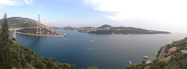Dubrovnik, view on the peninsula Lapad