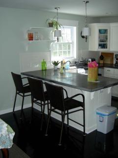 Kitchen bar area.