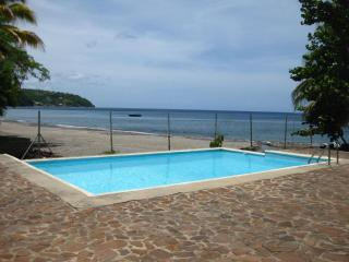 Beachfront 3 bedroom cottage with pool on very spacious grounds