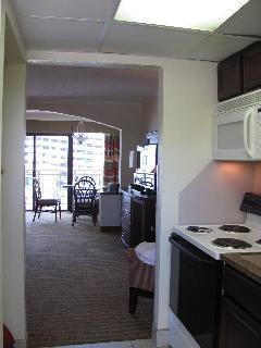 Kitchen View to Bedroom
