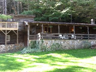 Blue ridge mountains river cabin with waterfall, Collettsville