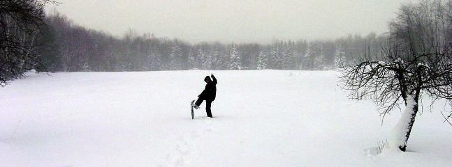 Open all winter. Snowshoes and sledding hills provided. Ski trails.