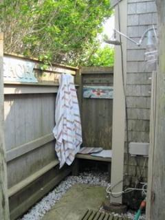 Outdoor Shower in back of studio cottage