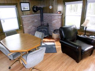 Back family room with fireplace/woodstove