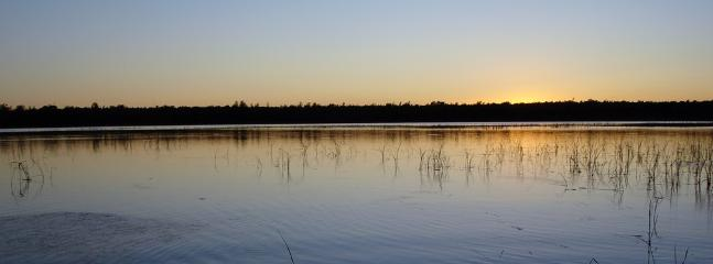 Enjoy the sunsets over Tawas Lake and the wild rice beds