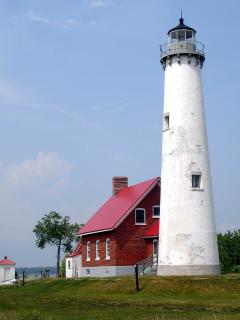 Tawas Point Lighthouse at the State Park. Great hiking and birding.