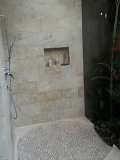 Shower in Garden Bathroom
