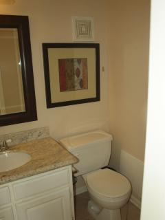 and half bath accessed through the hallway