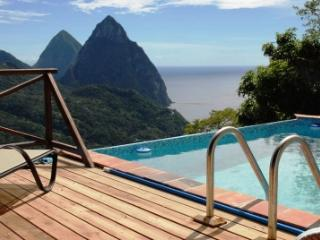 Villa Colombette: Pitons, Ocean, Rain Forest views