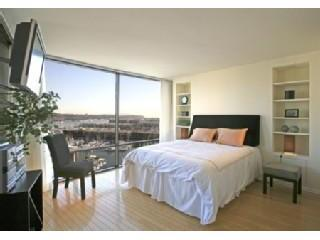 Master Suite of the Marina del Rey rental with beautiful views of the Marina and Ocean.