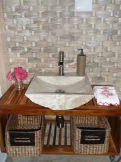 Detail toilet