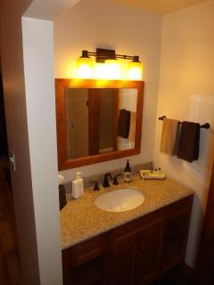 Large vanity with granite top