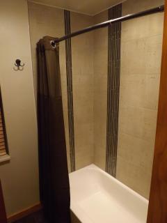 Large custom tile shower