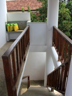 Stairway leading to Suite