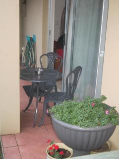 Patio with Bistro Table