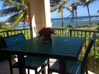 Private Beach Side Dining Table Located on Covered Balcony