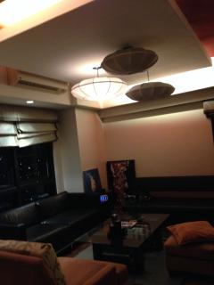 The apartment has a lot of lighting option for your different moods.