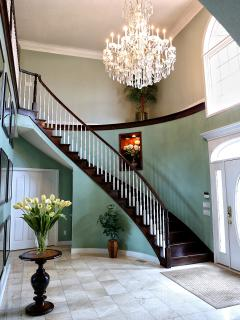 Foyer with stairs