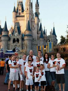 My wonderful family enjoying the Happiest Place on Earth!