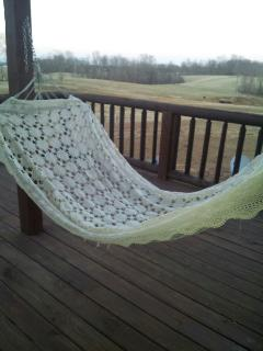 Deck with hammock to enjoy a relaxing view