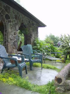Stone patio...