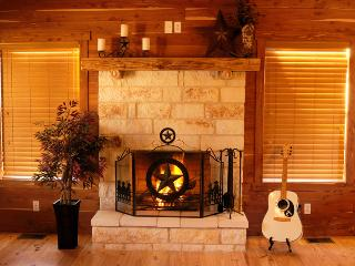 Cozy fireplace in the living area