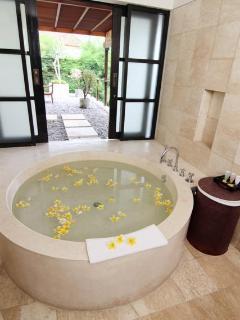 Spacious bath tub on Master bedroom