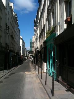 Situated on a charming street in the Marais