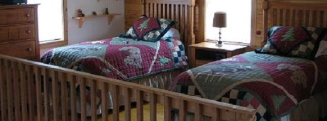 Twin beds in upstairs loft