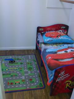 Toddler Bed in walk-in closet off Bedroom Two