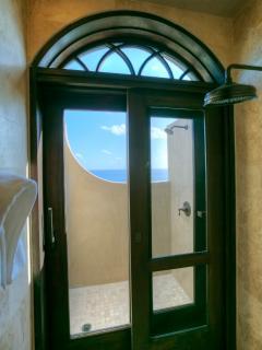 Outdoor/Indoor Showers in ALL Master Bedrooms