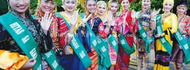 Traditional costumes In a Davao Fiesta