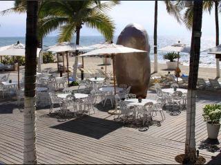 Private beach and beach club restaurant