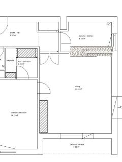 The apartment's plan