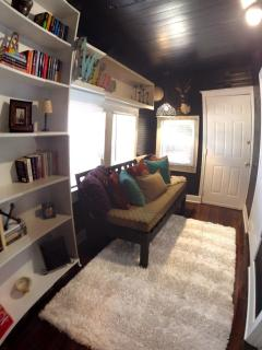 Another Shot of the Study.  Back door to the back yard
