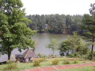 Lake, gazebo, dock