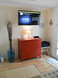 Wall-mounted, HD Smart TV - Bedroom