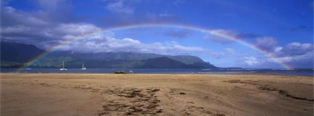 Rainbow over Hanalei Bay, Kauai