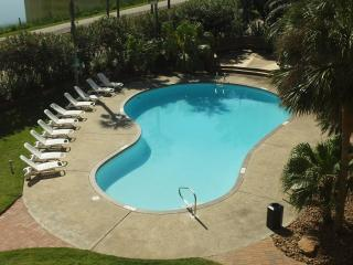 The 'East' pool at the complex is heated for year-round enjoyment