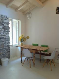 The kitchen, dining corner