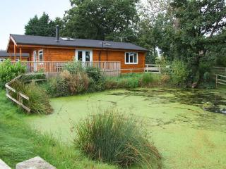 WATERSIDE LODGE, superb, single-storey lodge, woodburner, hot tub, overlooking p