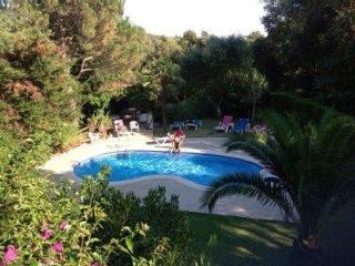 Superb villa , fantastic private garden (600m2) , heated pool, wifi ,near to beach and countryside