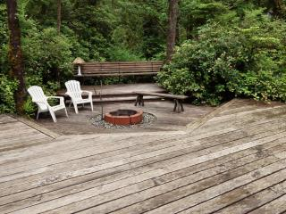 Expansive Cedar Decks and SunkenFire Pit.