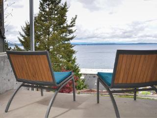 Alki Beach Modern Beach studio with 180 water view, free parking & wifi, Seattle