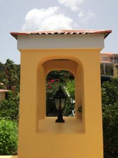 Architectural details at Villa Madeleine entrance