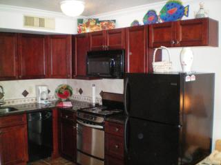 Newly remodeled kitchen with full size fridge and everything you might need