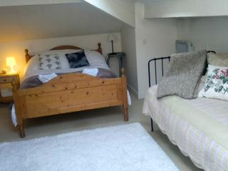 Double bedroom with single bed and ensuite shower room