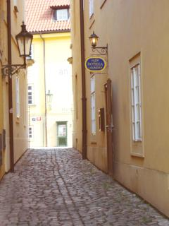 Prague is typical for its narrow streets