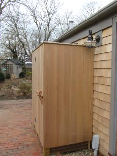 New Outdoor Shower