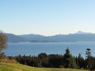 Overlooking Kachemak Bay and mountains